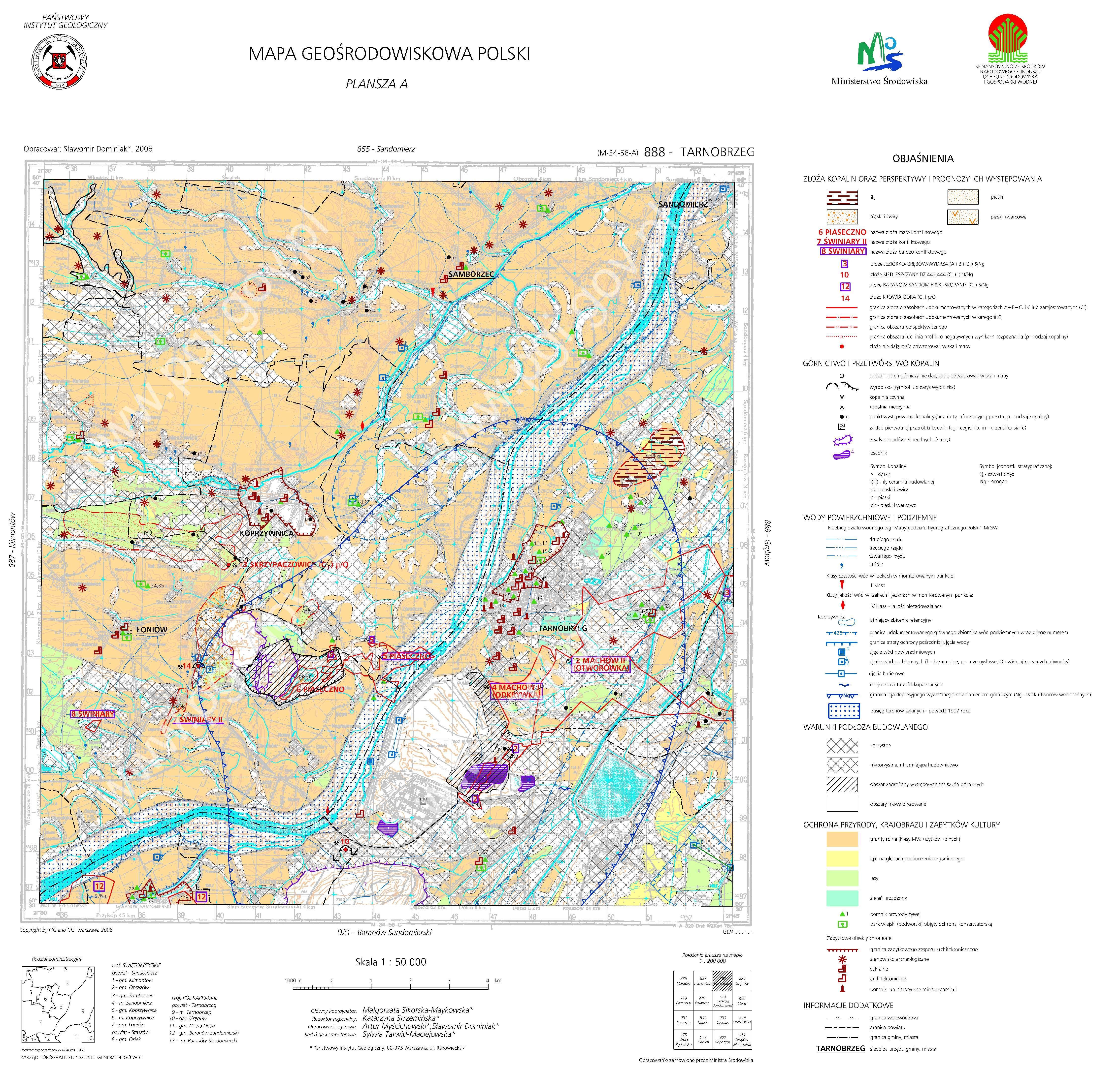 Mapa Geosrodowiskowa Polski 1 50 000 Mgsp Plansza A Arkusz