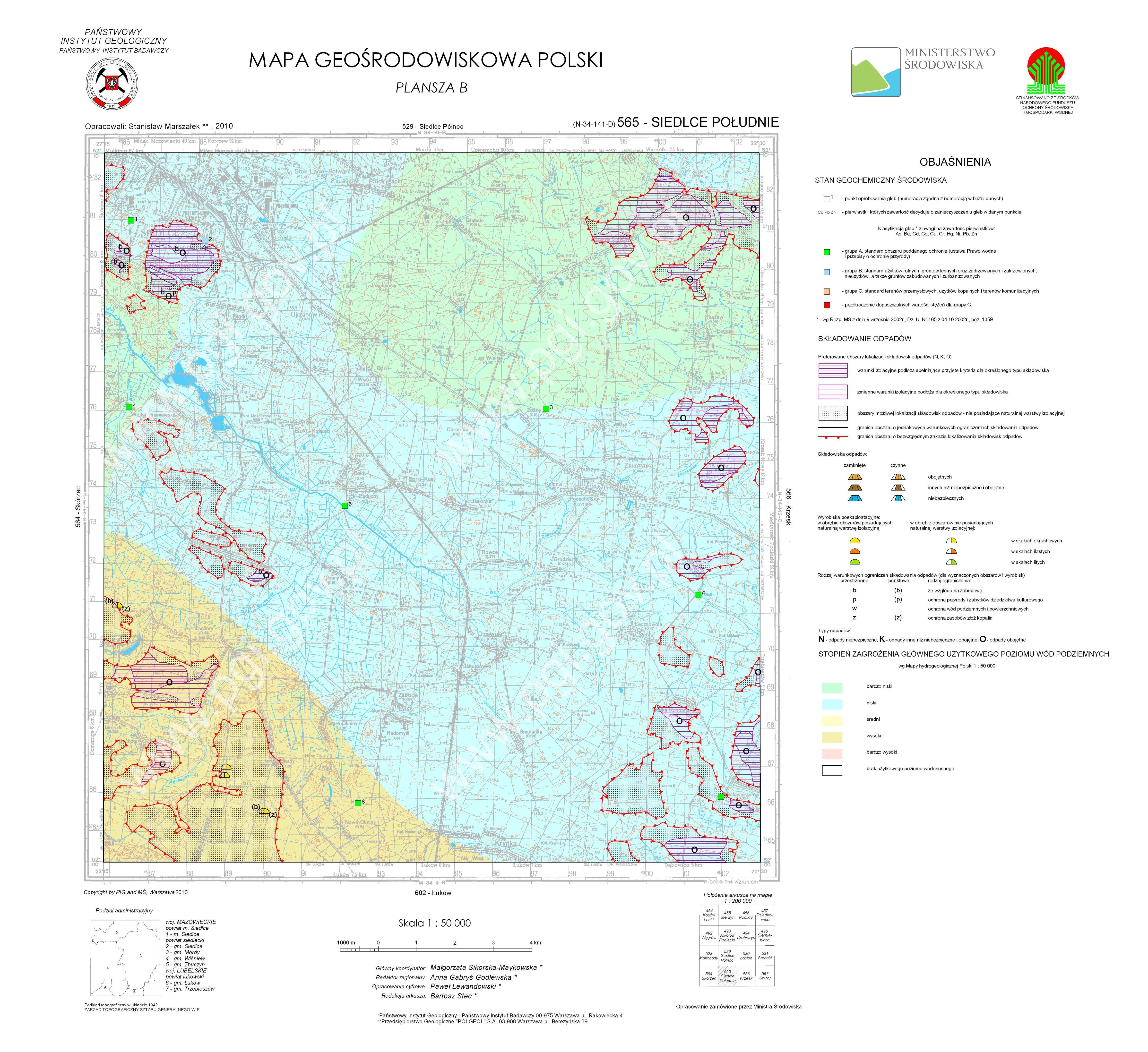 Mapa Geosrodowiskowa Polski 1 50 000 Mgsp Plansza B Arkusz