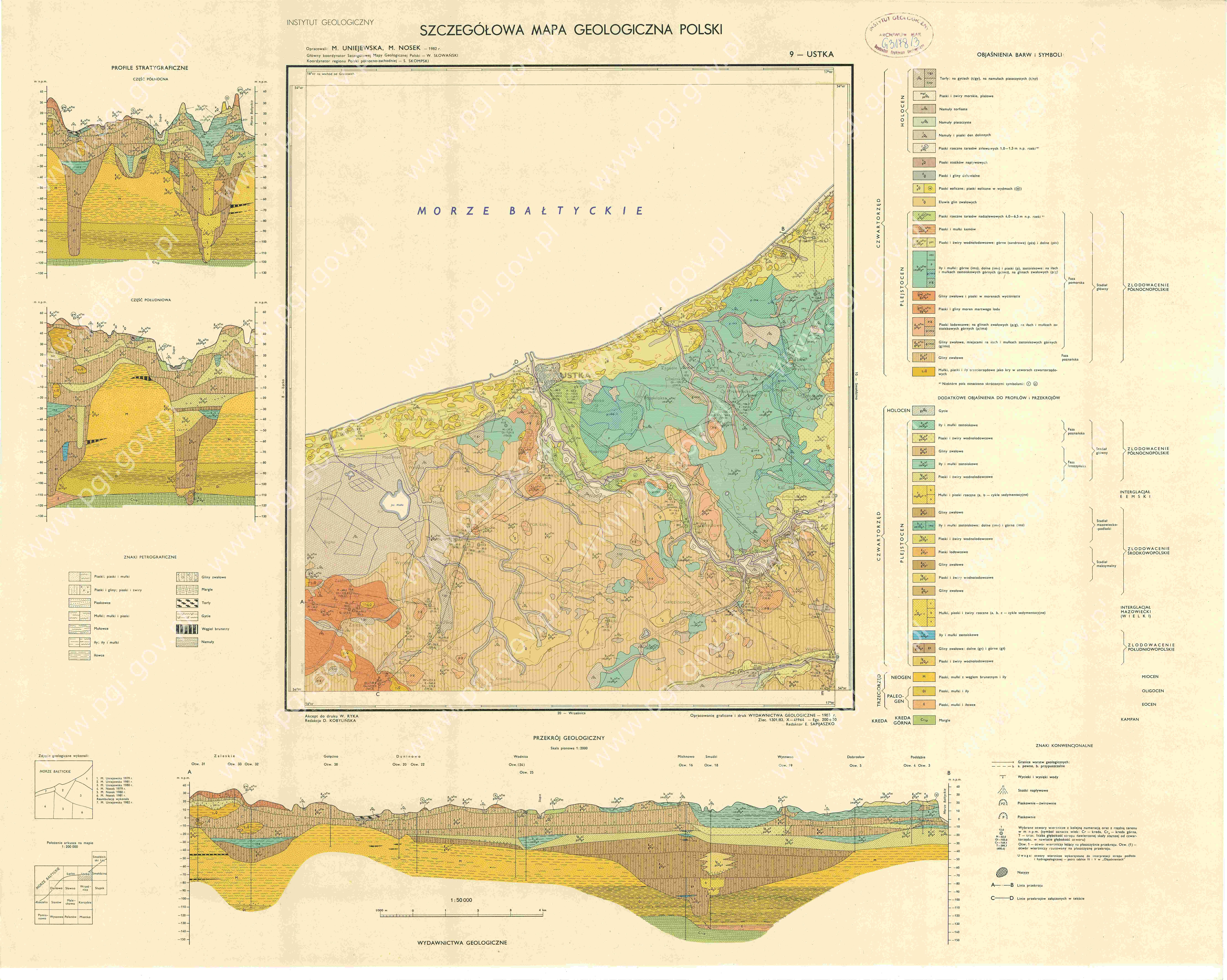 Szczegolowa Mapa Geologiczna Polski 1 50 000 Smgp Arkusz Ustka
